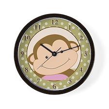 Papagayo Monkey Tan Dot Wall Clock