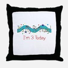 Three Today Throw Pillow