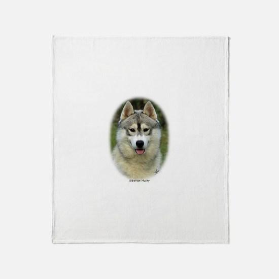 Siberian Husky 9L69D-14 (2) Throw Blanket