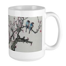 Pair of birds on a cherry branch Mugs