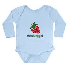 Strawberry Girl Long Sleeve Infant Bodysuit