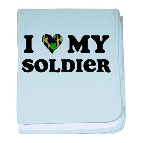 I Love My Soldier baby blanket