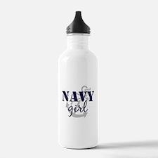 Navy Girl Water Bottle