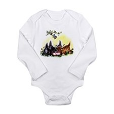 Vintage Little Kittens Long Sleeve Infant Bodysuit