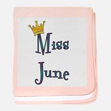 Miss June baby blanket