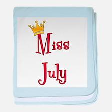 Miss July baby blanket
