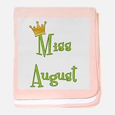 Miss August baby blanket