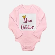 Miss October Long Sleeve Infant Bodysuit