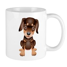 Cute Doberman Puppy Mug