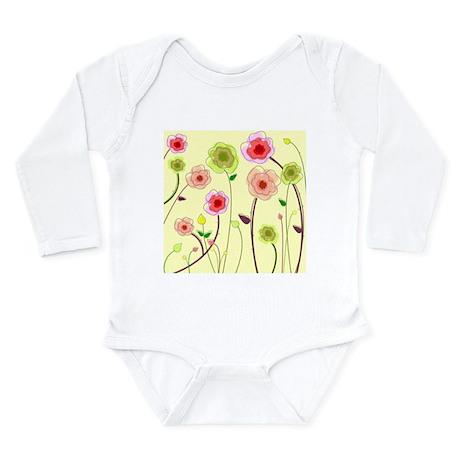 FLOWERS *3* Long Sleeve Infant Bodysuit