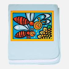 Bees10 baby blanket