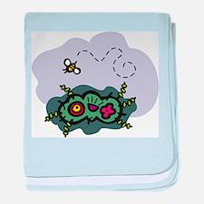 Bees4 baby blanket