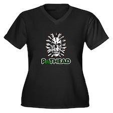 Pothead Women's Plus Size V-Neck Dark T-Shirt