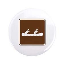 """Canoeing Sign 3.5"""" Button"""