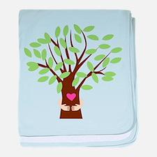 Tree Hugger baby blanket