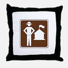 Ranger Station Sign Throw Pillow