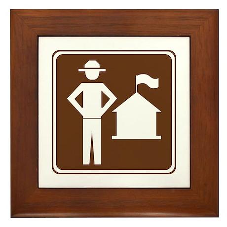 Ranger Station Sign Framed Tile