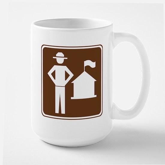 Ranger Station Sign Large Mug