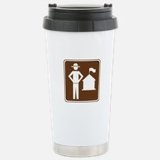 Ranger Station Sign Travel Mug