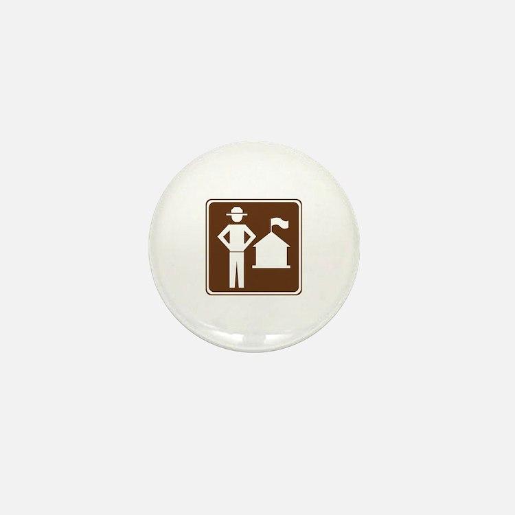 Ranger Station Sign Mini Button