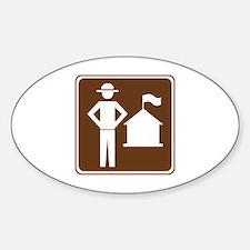 Ranger Station Sign Sticker (Oval)