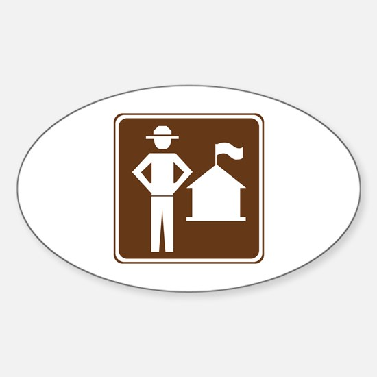 Ranger Station Sign Sticker (Oval)