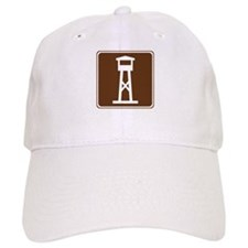 Lookout Tower Sign Baseball Cap