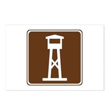 Lookout Tower Sign Postcards (Package of 8)