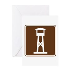 Lookout Tower Sign Greeting Card