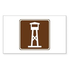 Lookout Tower Sign Decal