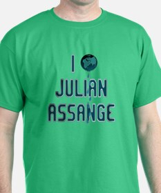 I Love Julian Assange Wikileaks T-Shirt