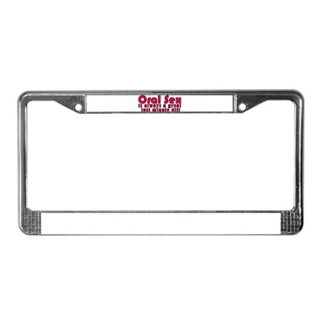 Last Minute Gift License Plate Frame