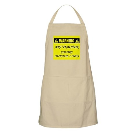 WARNING: Art Teacher Apron