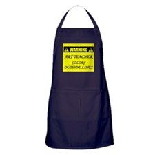 WARNING: Art Teacher Apron (dark)