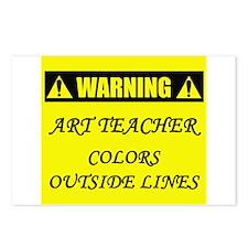WARNING: Art Teacher Postcards (Package of 8)