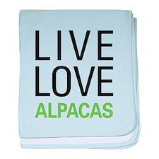 Live Love Alpacas baby blanket
