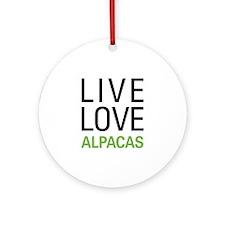 Live Love Alpacas Ornament (Round)