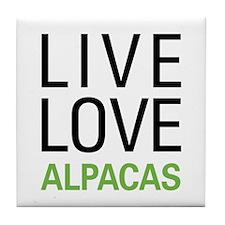 Live Love Alpacas Tile Coaster