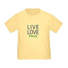 Live Love Pigs T