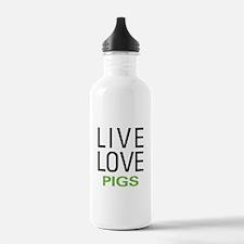 Live Love Pigs Water Bottle