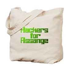 Hackers For Assange Wikileaks Tote Bag