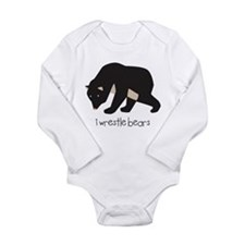 I Wrestle Bears Long Sleeve Infant Bodysuit