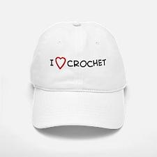 I Love Crochet Baseball Baseball Cap