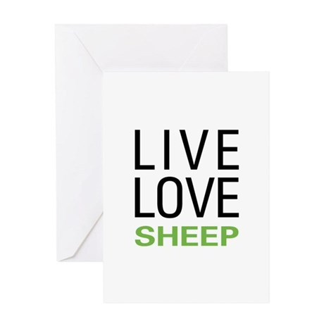 Live Love Sheep Greeting Card