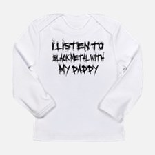 Black Metal With Daddy Long Sleeve Infant T-Shirt
