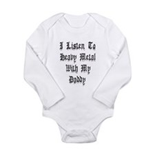 I Listen To Heavy Metal With Long Sleeve Infant Bo