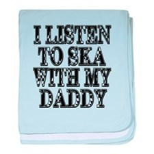 Ska With Daddy baby blanket