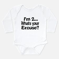 I'm 2 Long Sleeve Infant Bodysuit