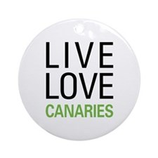 Live Love Canaries Ornament (Round)