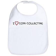 I Love Coin Collecting Bib